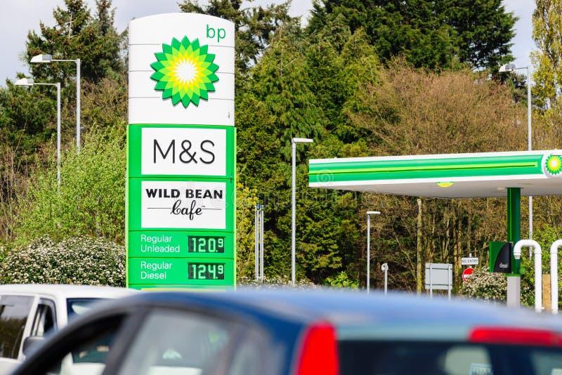 Бензозаправочная колонка BP стоковое изображение rf