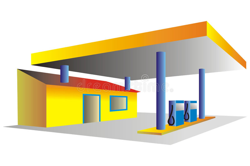 бензоколонка иллюстрация штока