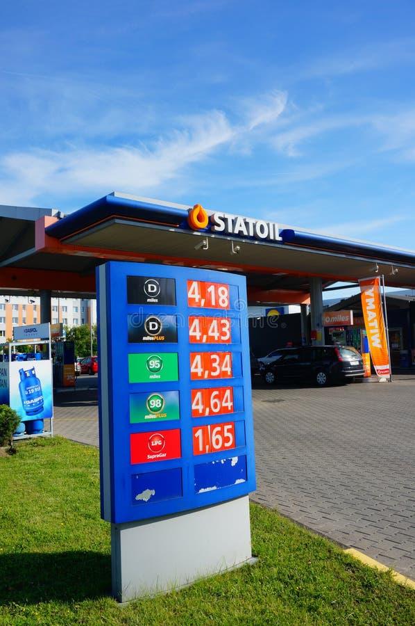 Бензоколонка Statoil стоковые изображения rf
