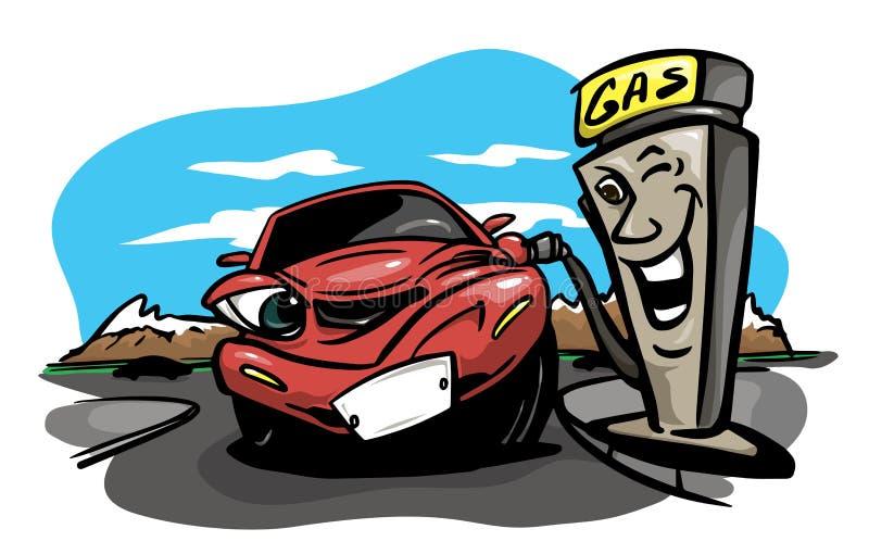 бензоколонка питания автомобиля ваша бесплатная иллюстрация