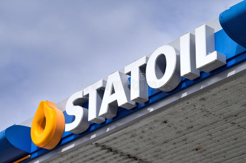 Бензоколонка Statoil стоковые фотографии rf