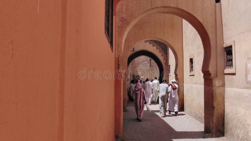 Бен Youssef Madrasa, Марокко стоковое изображение