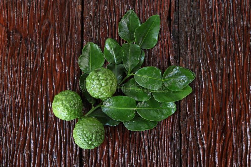 Бергамотский фрукт с листом стоковое фото rf