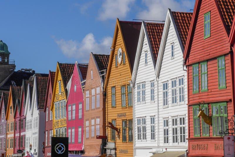 Берген Bryggen стоковые фотографии rf