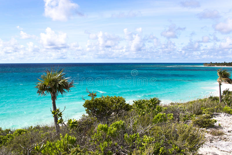 Береговая линия Багамских островов стоковое изображение