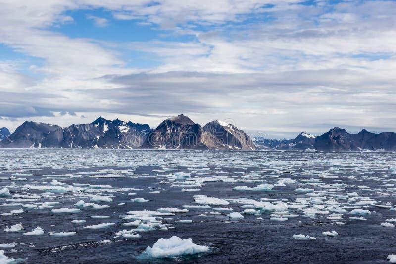 Береговая линия Гренландии стоковые изображения rf