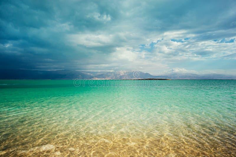 Береговая линия мертвого моря стоковые фото