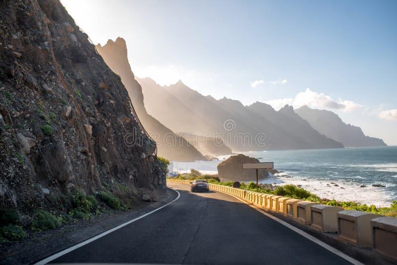 Береговая линия около деревни Tagana на острове Тенерифе стоковая фотография rf