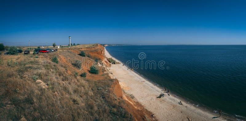 Береговая линия и пляжи в Ochakov, Украине стоковое фото