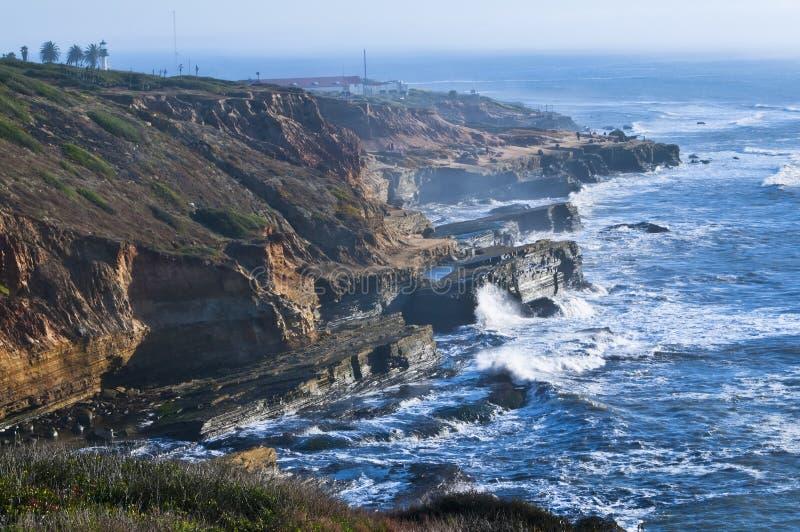 береговая линия diego san california стоковая фотография