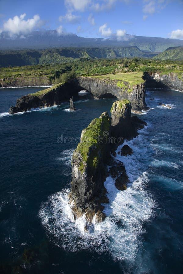 береговая линия maui стоковое фото rf