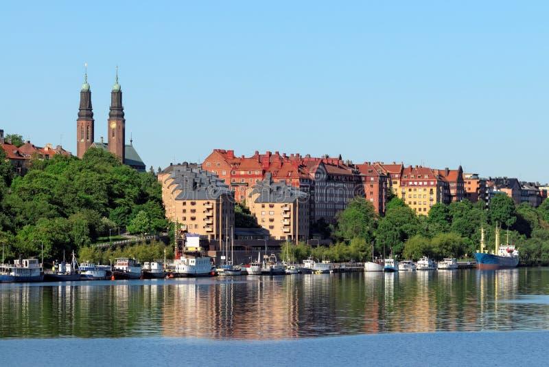 береговая линия stockholm стоковая фотография rf