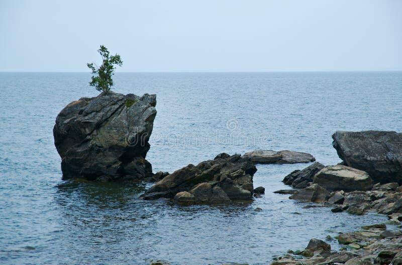 Берег вдоль Lake Baikal стоковая фотография rf