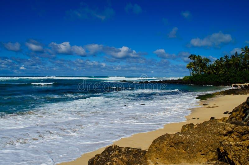 Берег западного побережья Оаху стоковое фото rf