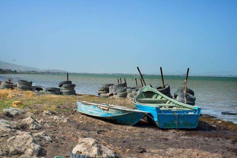 Берег Каспийского моря стоковое изображение