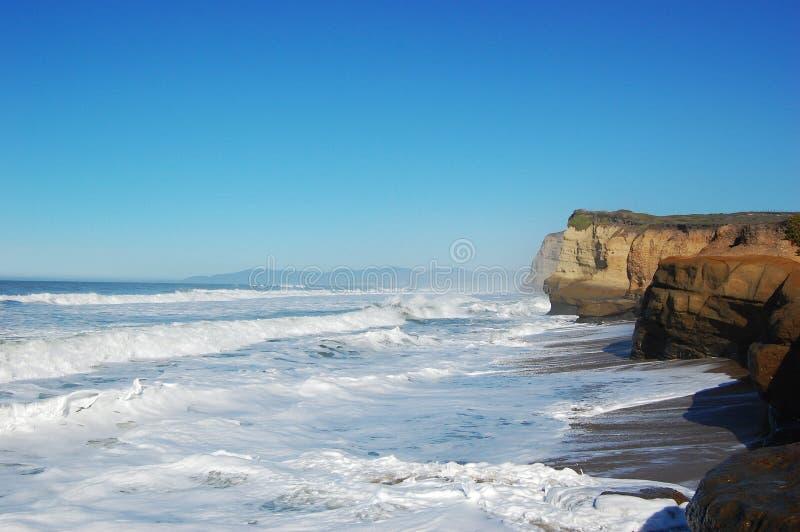 берег моря santa cruz california утесистый стоковые фотографии rf