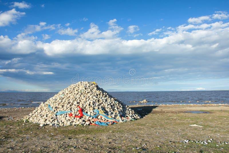 Берег озера Цинха стоковое фото rf