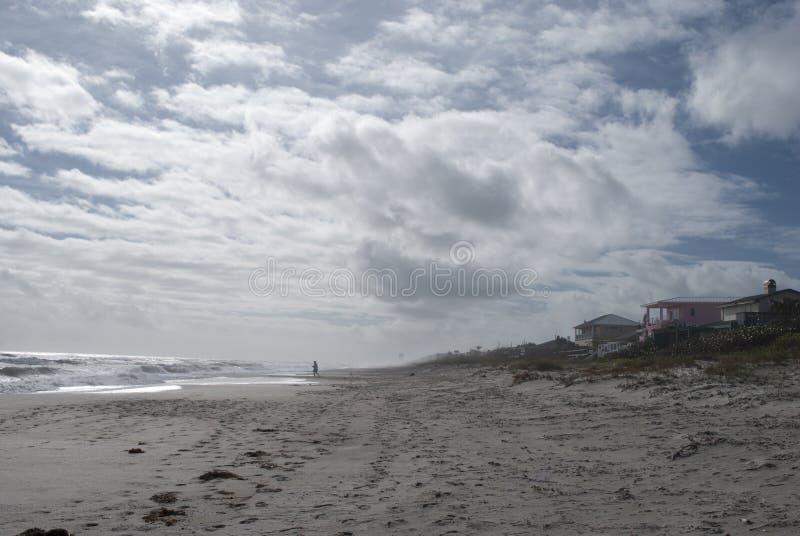 Берег океана Дома пляжа предпосылка тропическая земля интереса стоковое изображение rf