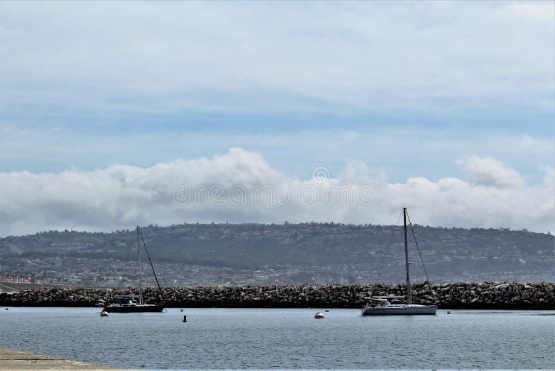 Берег океана Portifino Калифорния в Redondo Beach, Калифорния, Соединенных Штатах стоковое изображение rf