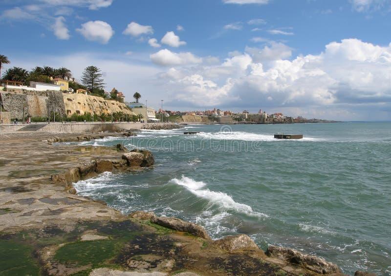 берег Португалии cascais стоковая фотография