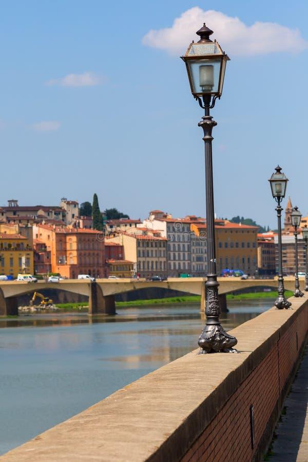 Берег реки Арно в Флоренсе стоковое изображение rf