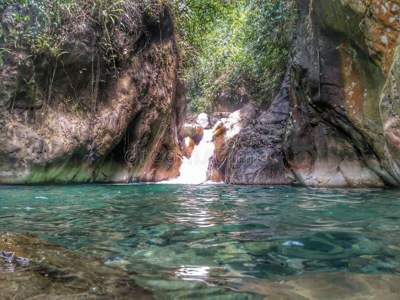 Берег реки или водопад стоковые изображения rf