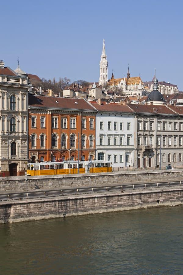 берег реки budapest danube стоковые фотографии rf