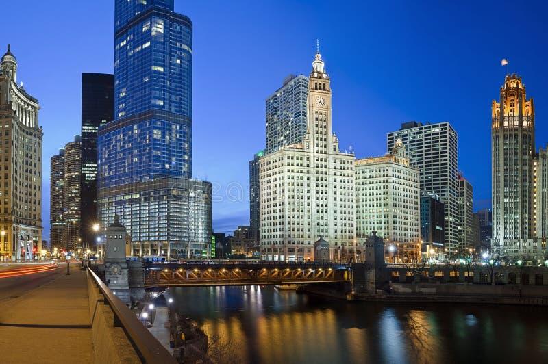 берег реки chicago стоковое изображение
