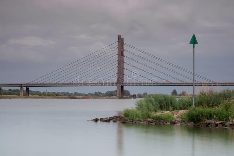 Берег реки IJssel около Kampen стоковая фотография