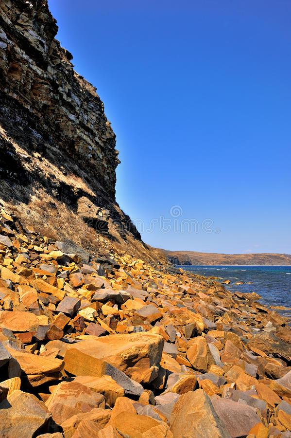 берег солнечный стоковые фотографии rf