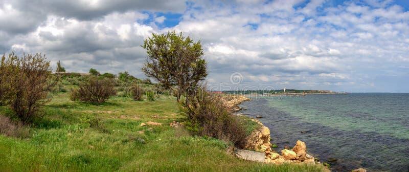 Берег Черного моря в Одесской области Украины стоковые фотографии rf
