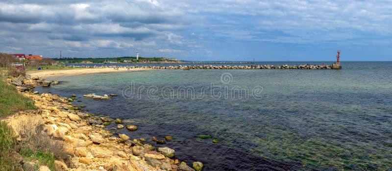 Берег Черного моря в Одесской области Украины стоковое фото