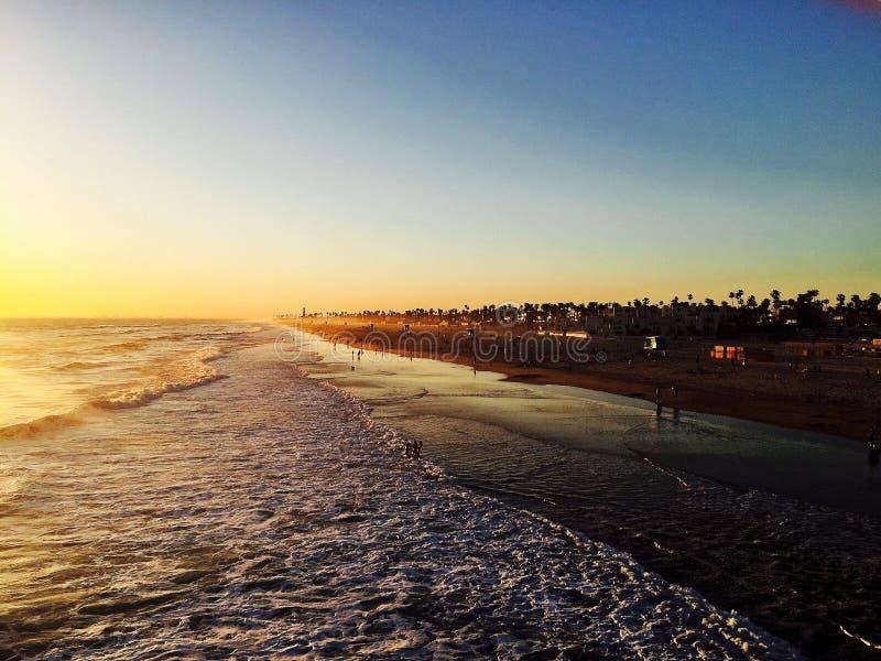 Берег Huntington Beach стоковые изображения rf