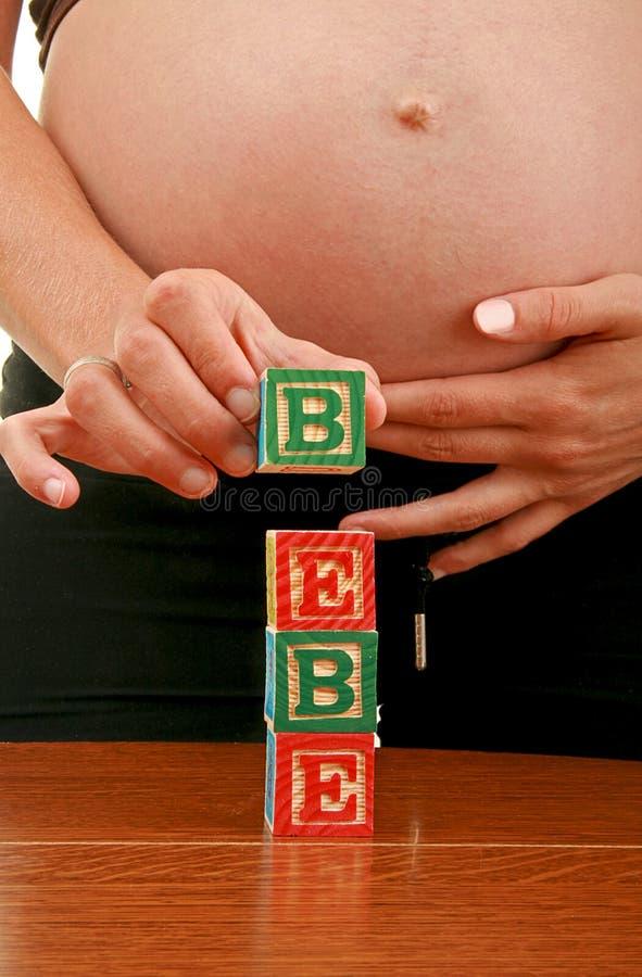 беременная женщина младенца стоковое фото