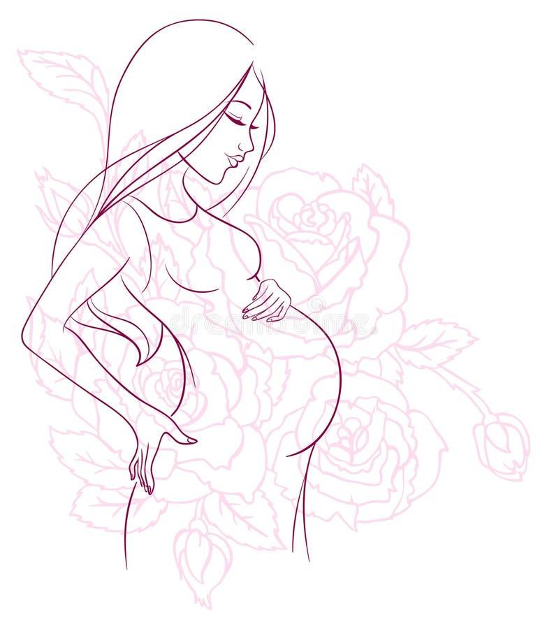 Картинки для срисовки девушки беременные