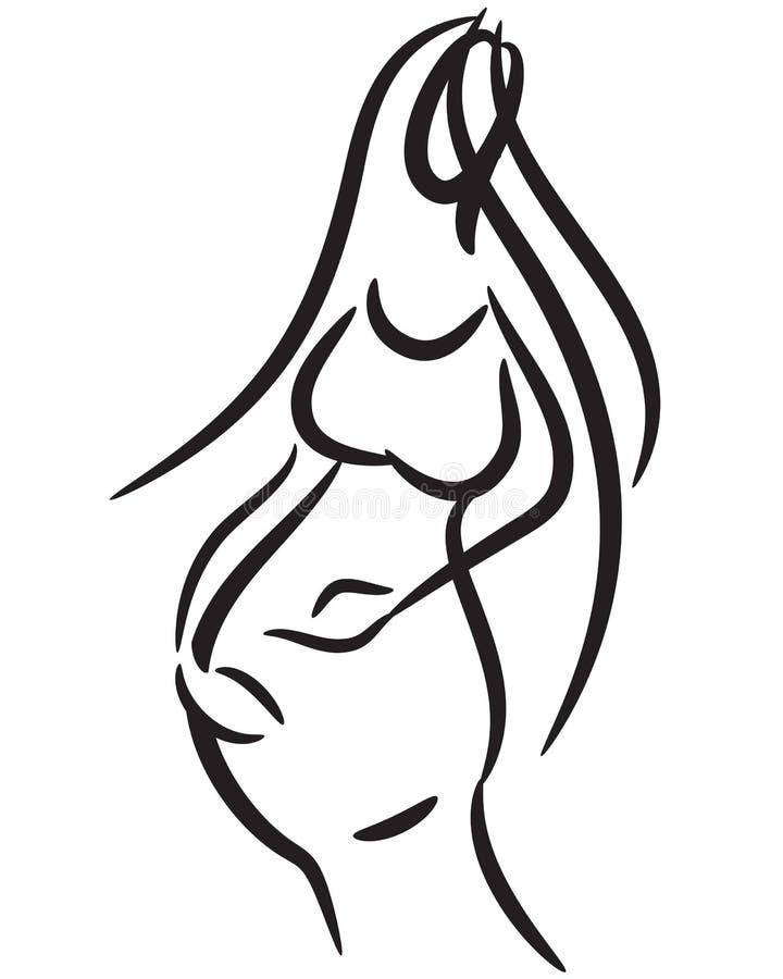беременная женщина иллюстрация вектора
