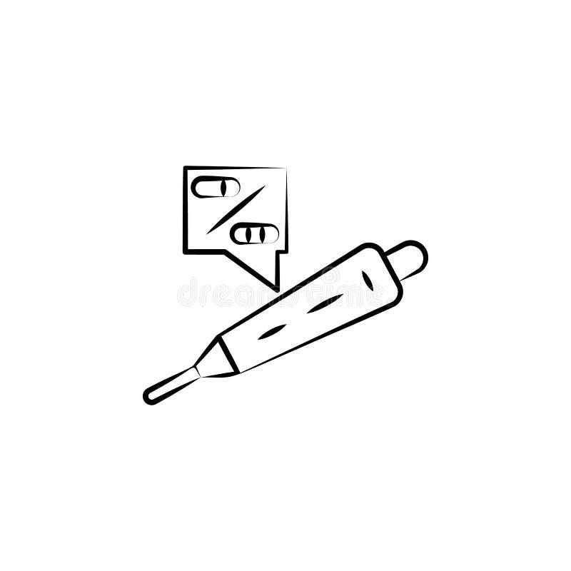 Беременность, значок руки рождаемости вычерченный Один из значков здоровья женщин для вебсайтов, веб-дизайн, мобильное приложение иллюстрация вектора