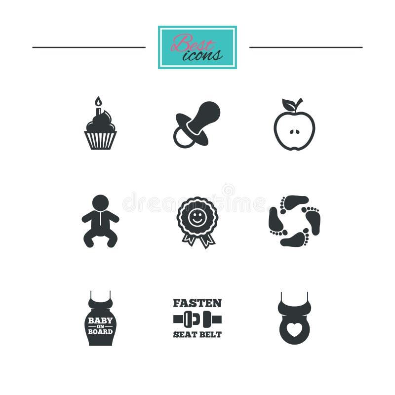 Download Беременность, материнство и значки заботы младенца Иллюстрация вектора - иллюстрации насчитывающей birmingham, линия: 81805060