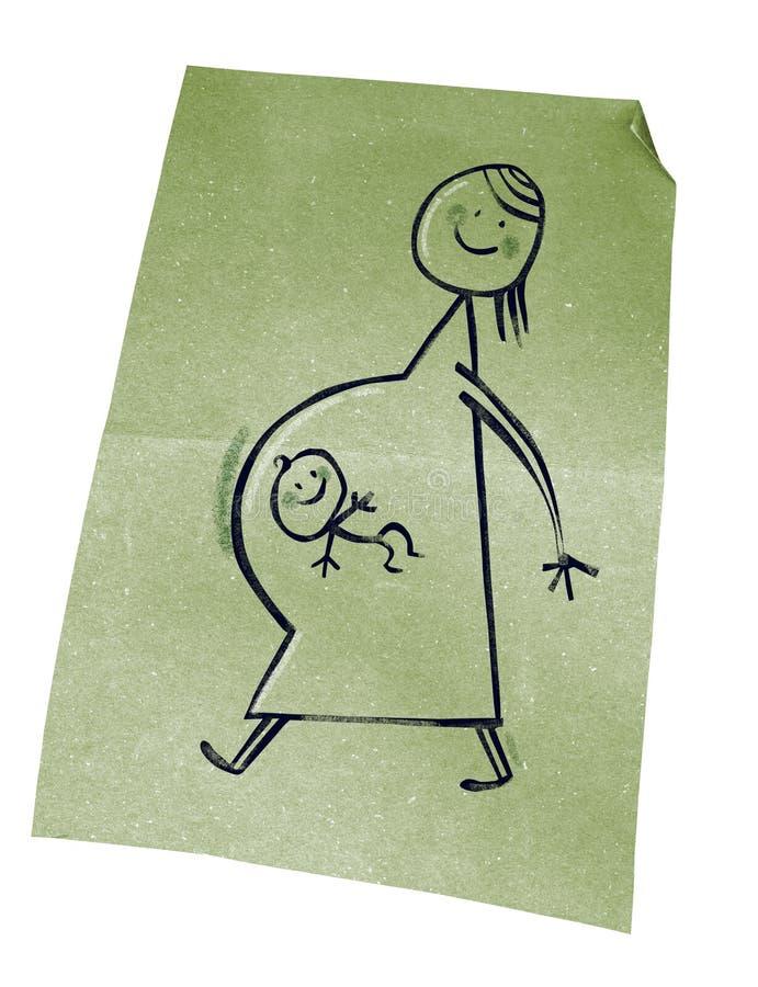 беременные женщины иллюстрация вектора