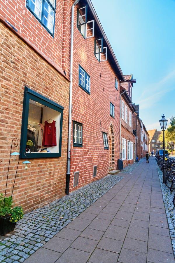 Беременный дом или Das Schwangere Haus в Luneburg r стоковые изображения