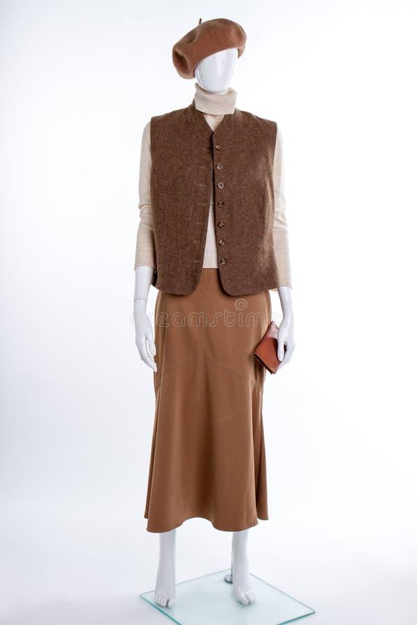 Берет, жилет и юбка Брайна стоковые фото