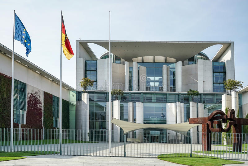 БЕРЛИН, GERMANY/EUROPE - 15-ОЕ СЕНТЯБРЯ: Федеральное ведомство канцлера стоковое фото rf