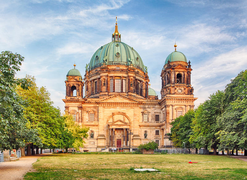 Берлинец Dom, Берлин, Германия стоковые изображения rf