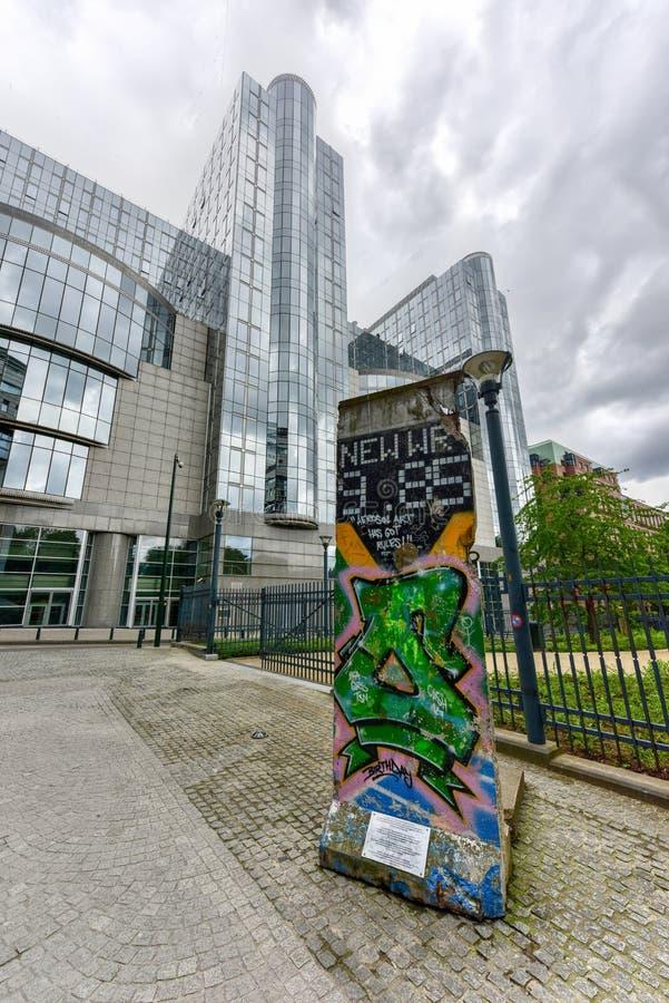 Берлинская стена - Брюссель, Бельгия стоковое изображение rf
