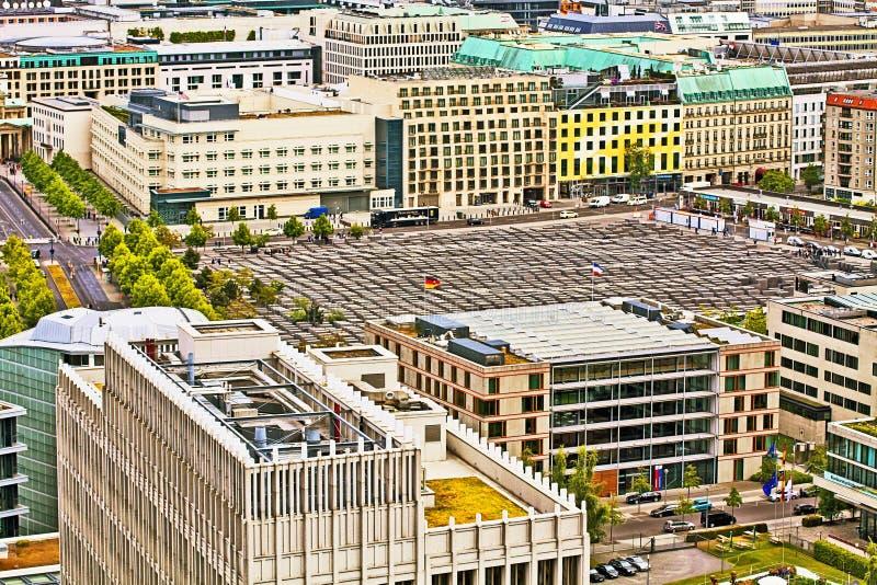 Берлин, вид с воздуха мемориала холокоста стоковые фотографии rf