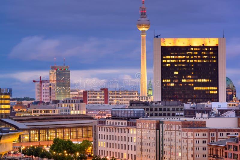 Берлин, городской пейзаж Германии стоковое изображение rf