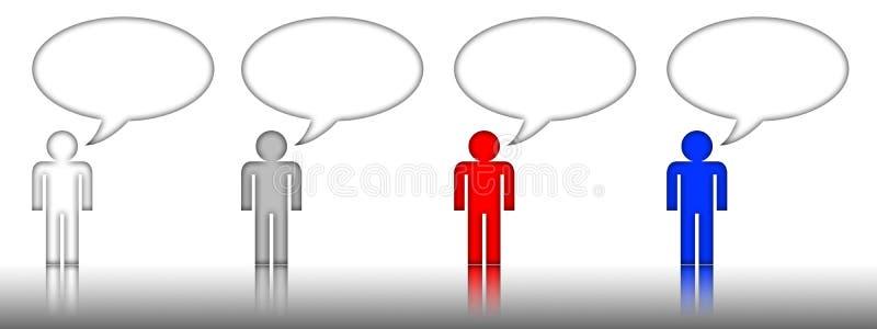 беседа бирки символа пузыря людская бесплатная иллюстрация