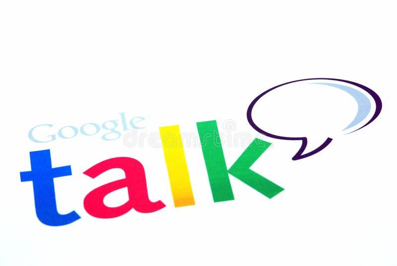 беседа логоса google стоковое фото
