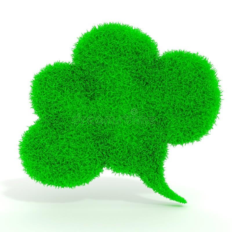 беседа пузыря зеленой травы 3d бесплатная иллюстрация