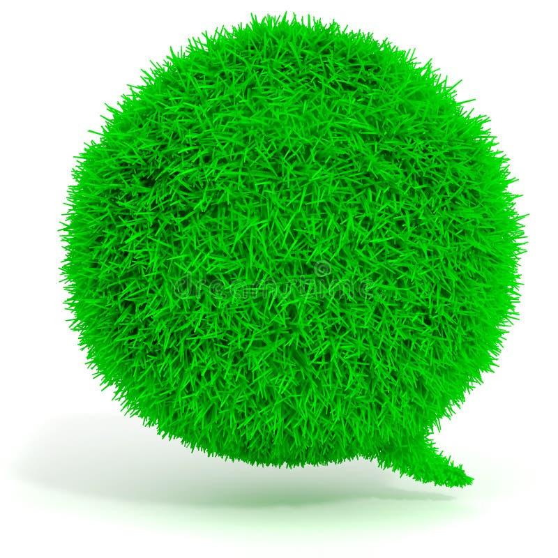 беседа пузыря зеленой травы 3d иллюстрация штока